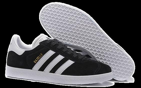 Adidas Gazelle Черные с белой подошвой