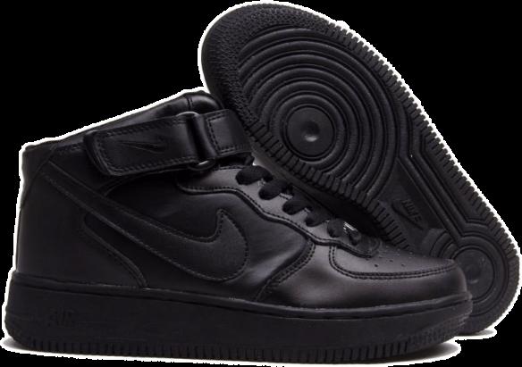Nike Air Force 1 Mid Черные