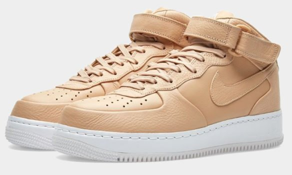 Фото Nike Lab Air Force 1 Mid бежевые - 1