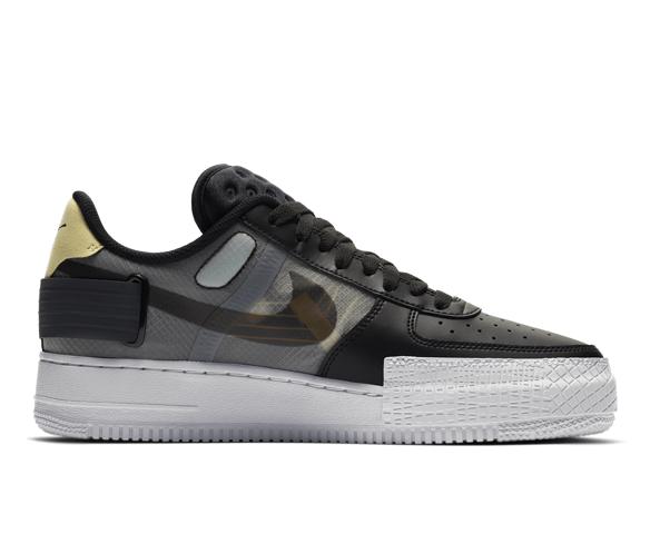 Nike Air Force 1 Type black anthracite pink