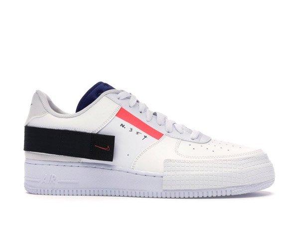 Nike AF1-Type Low N. 354 белые