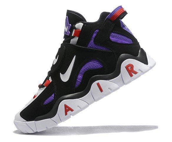 Nike Air Barrage mid QS black-purple-white