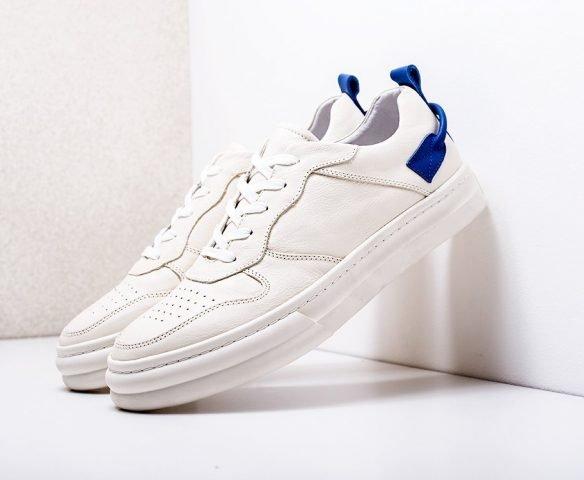Fashion leather белые с синим