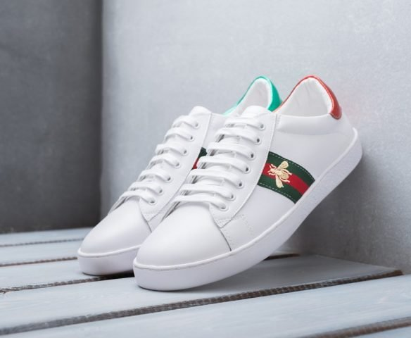 Gucci Ace Embroidered белые