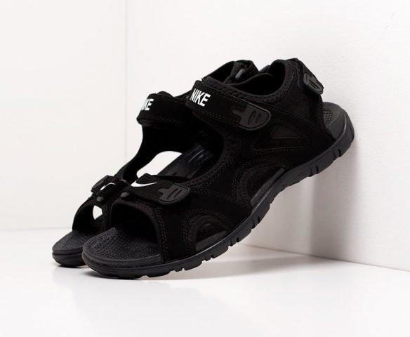 Сандали Nike черные на липучках