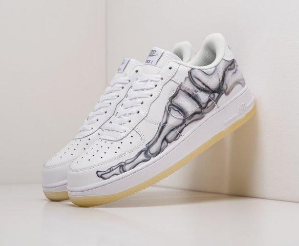 Nike Air Force 1 экокожа белые