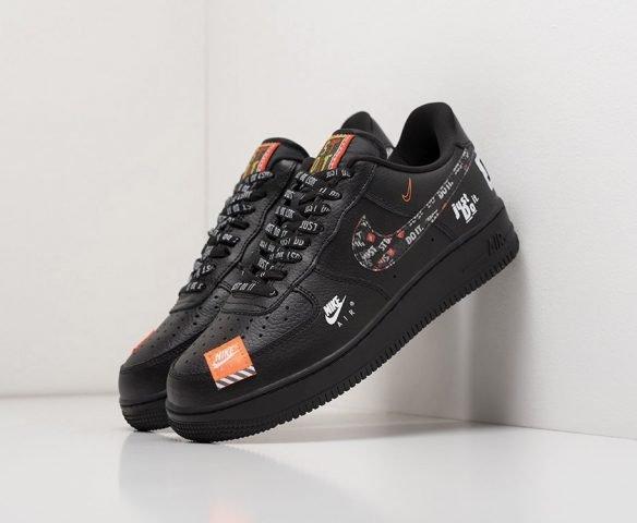 Nike Air Force 1 Low кожаные черные
