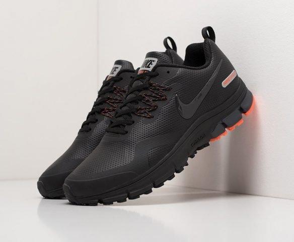 Nike Air Pegasus +30 черные кожаные