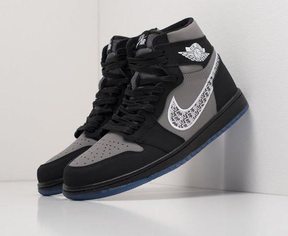 Dior x Nike Air Jordan 1 high черные