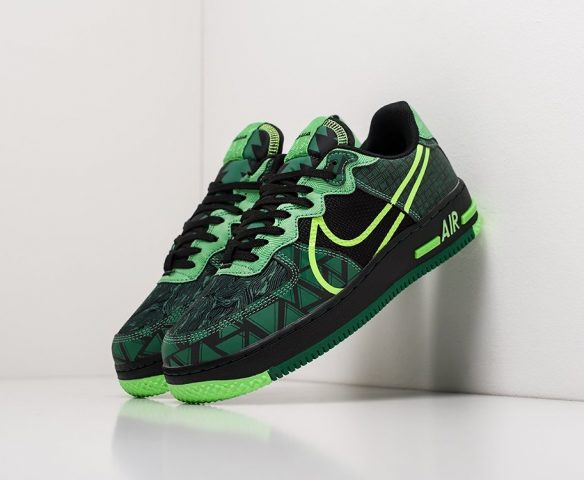 Nike Air Force 1 Low React wmn green