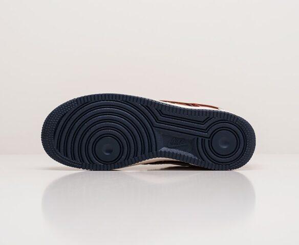 Nike x Dior Air Force 1 Low бордовые. Вид 5