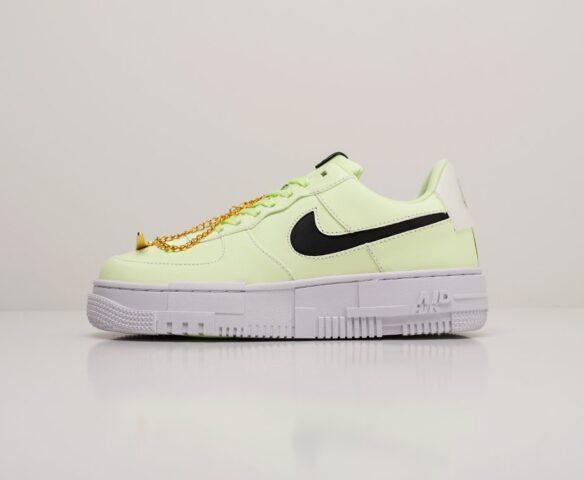 Nike Air Force 1 Pixel Low зеленые. Вид 2