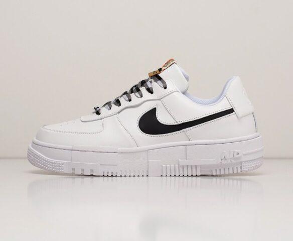Nike Air Force 1 Pixel Low white белые. Вид 2