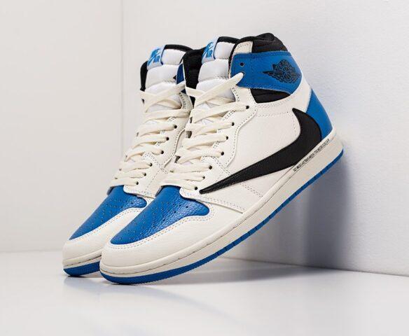 Nike Air Jordan 1 x Travis Scott white. Вид 1