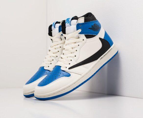Nike Air Jordan 1 x Travis Scott white wmn. Вид 1