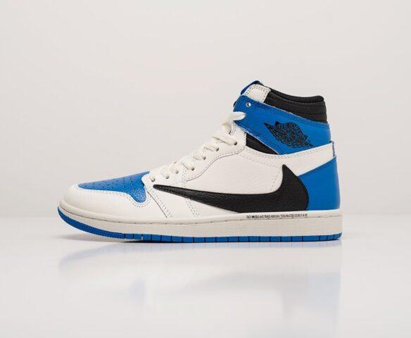 Nike Air Jordan 1 x Travis Scott white wmn. Вид 2