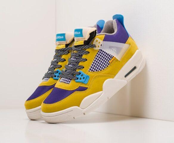 Nike Air Jordan 4 Retro multicolored. Вид 1