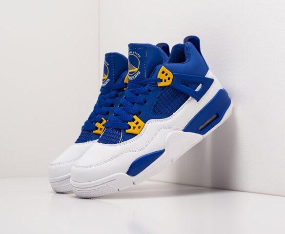 Nike Air Jordan 4 Retro синие. Вид 1