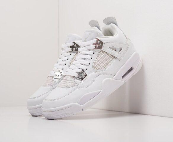 Nike Air Jordan 4 Retro серые wmn. Вид 1