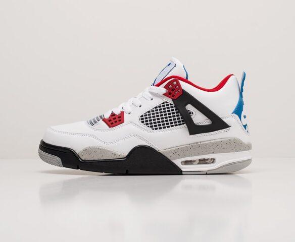 Nike Air Jordan 4 Retro white белые. Вид 2