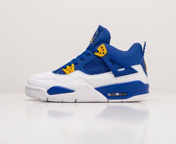 Nike Air Jordan 4 Retro синие. Вид 2