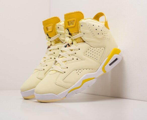 Nike Air Jordan 6 желтые. Вид 1