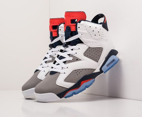 Nike Air Jordan 6 white. Вид 1