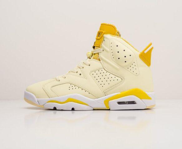 Nike Air Jordan 6 желтые. Вид 2