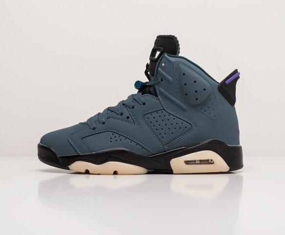 Nike Air Jordan 6 синие. Вид 2