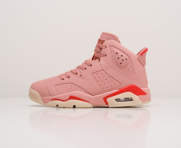 Nike Air Jordan 6 розовые. Вид 2
