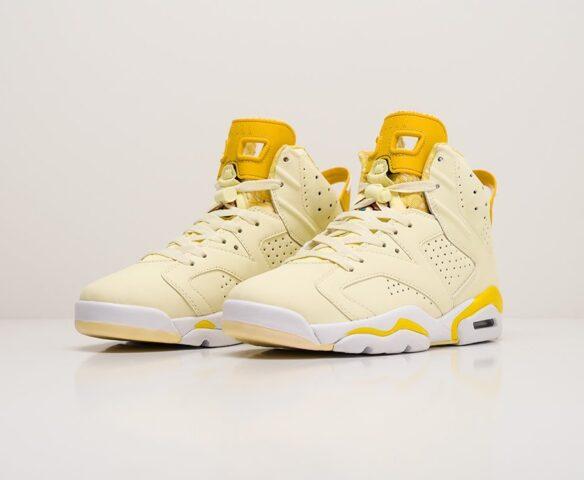 Nike Air Jordan 6 желтые. Вид 3