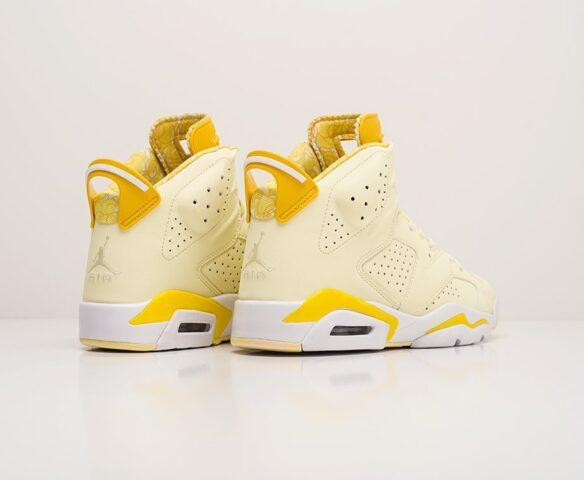 Nike Air Jordan 6 желтые. Вид 4