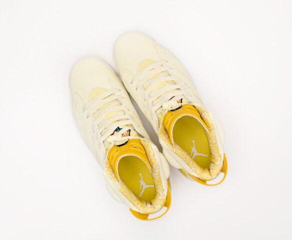 Nike Air Jordan 6 желтые. Вид 6