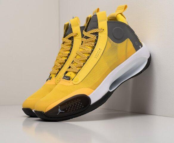 Nike Air Jordan XXXIV желтые. Вид 1