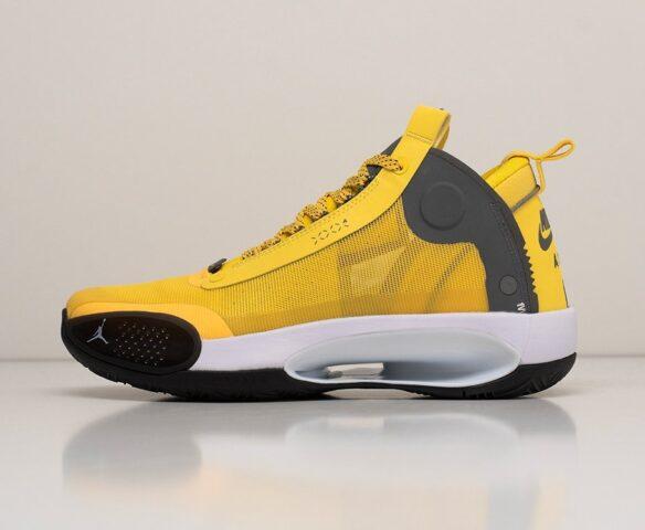 Nike Air Jordan XXXIV желтые. Вид 2