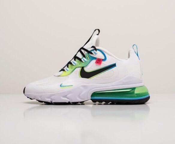Nike Air Max 270 React белые. Вид 2