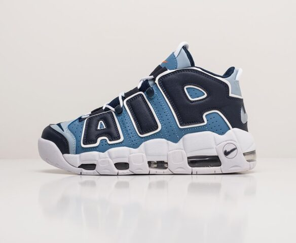 Nike Air More Uptempo голобые. Вид 2