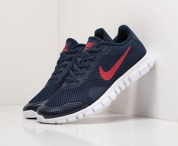 Nike Free 3.0 V2 синие. Вид 1