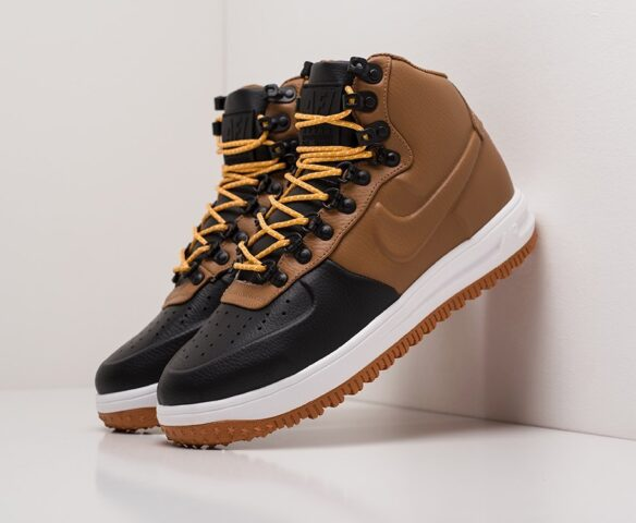 Nike Lunar Force 1 Duckboot коричневые. Вид 1