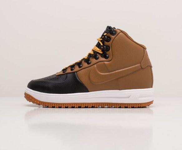 Nike Lunar Force 1 Duckboot коричневые. Вид 2