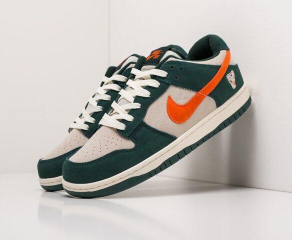 Nike SB Dunk Low green. Вид 1