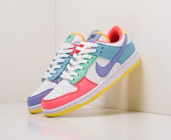 Nike SB Dunk Low разноцветные wmn. Вид 1