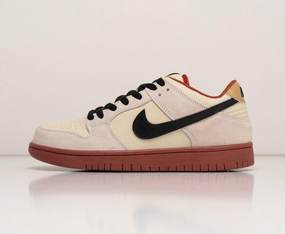 Nike SB Dunk Low белые. Вид 2