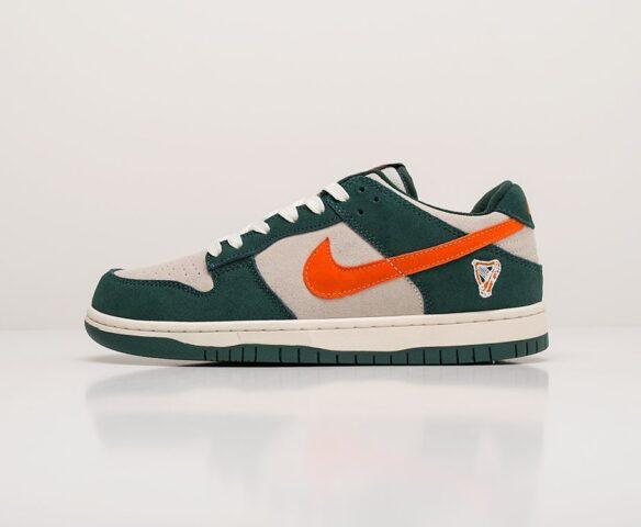 Nike SB Dunk Low зеленые. Вид 2