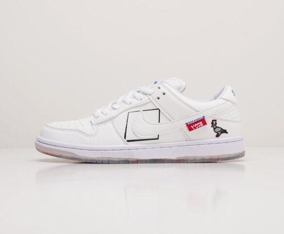 Nike SB Dunk Low white. Вид 2