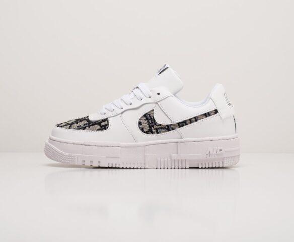 Nike x Dior Air Force 1 Pixel Low белые. Вид 2