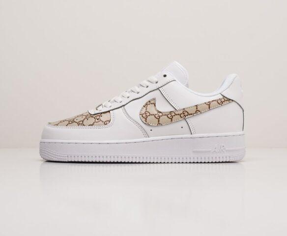 Nike x Gucci Air Force 1 Low белые. Вид 2