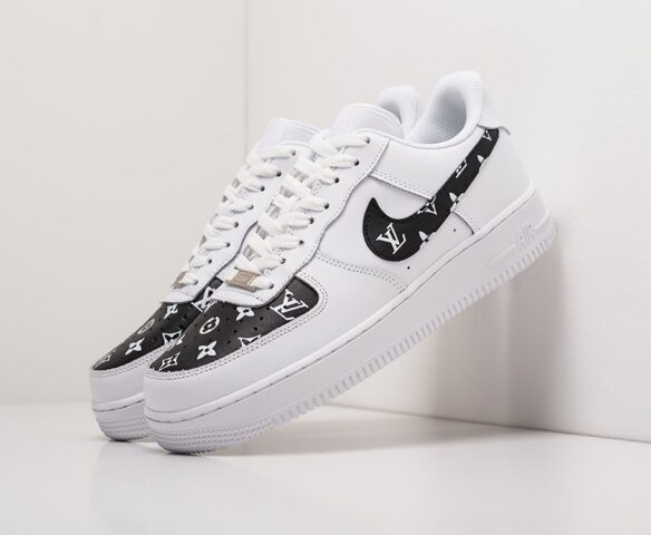 Nike x Louis Vuitton Air Force 1 Low белые. Вид 1