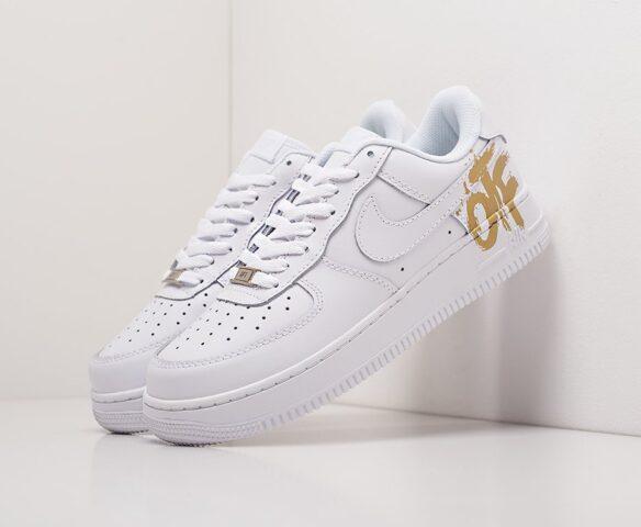 Nike x OFF-White Air Force 1 Low белые. Вид 1