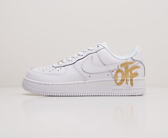 Nike x OFF-White Air Force 1 Low белые. Вид 2